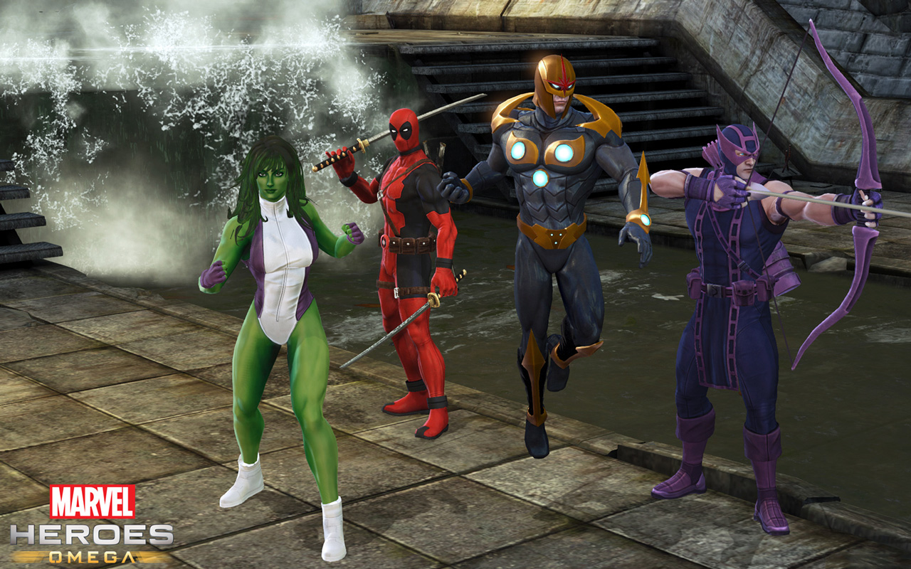 Free Marvel Heroes Wallpaper in 1280x800