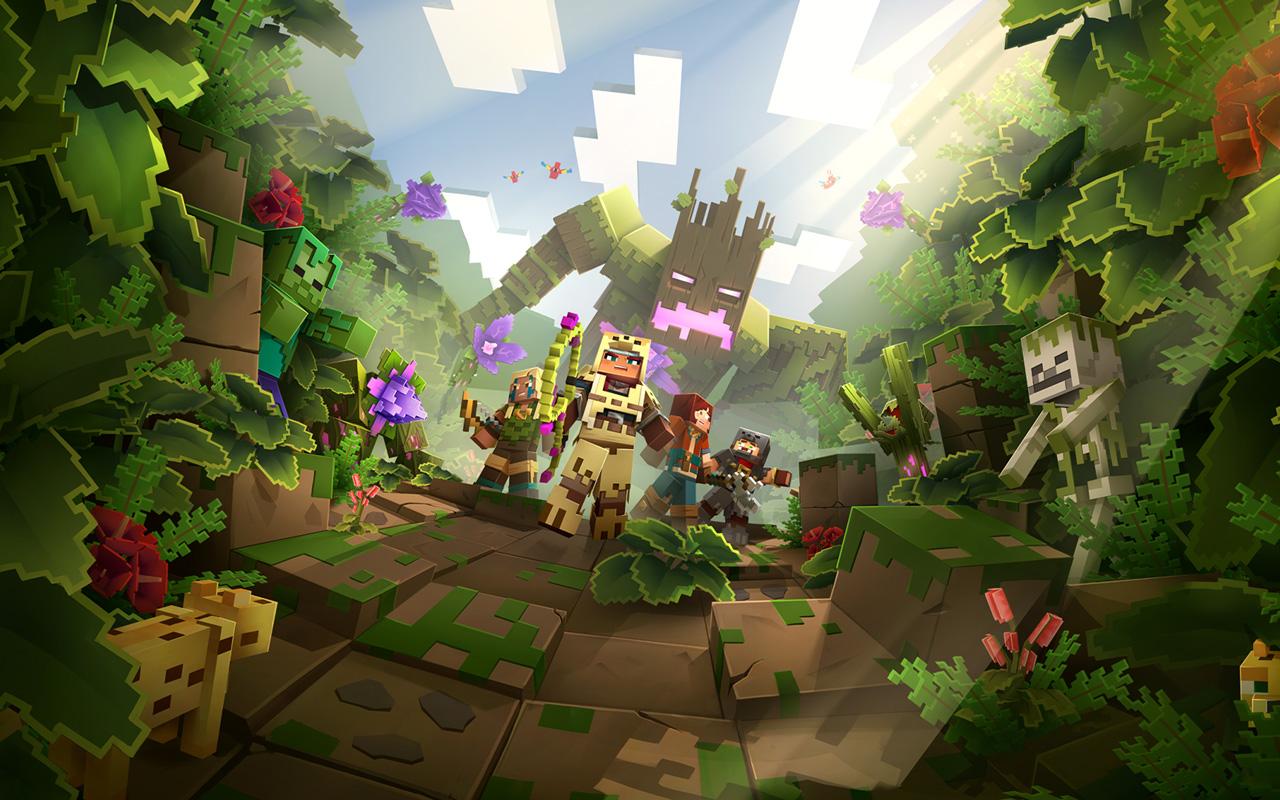 Free Minecraft Dungeons Wallpaper in 1280x800