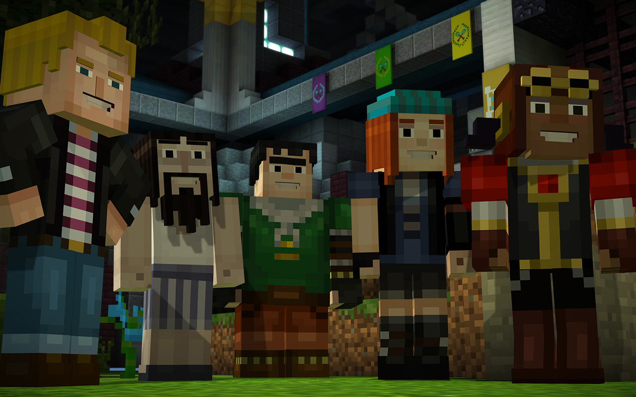 Free Minecraft: Story Mode Wallpaper in 1280x800
