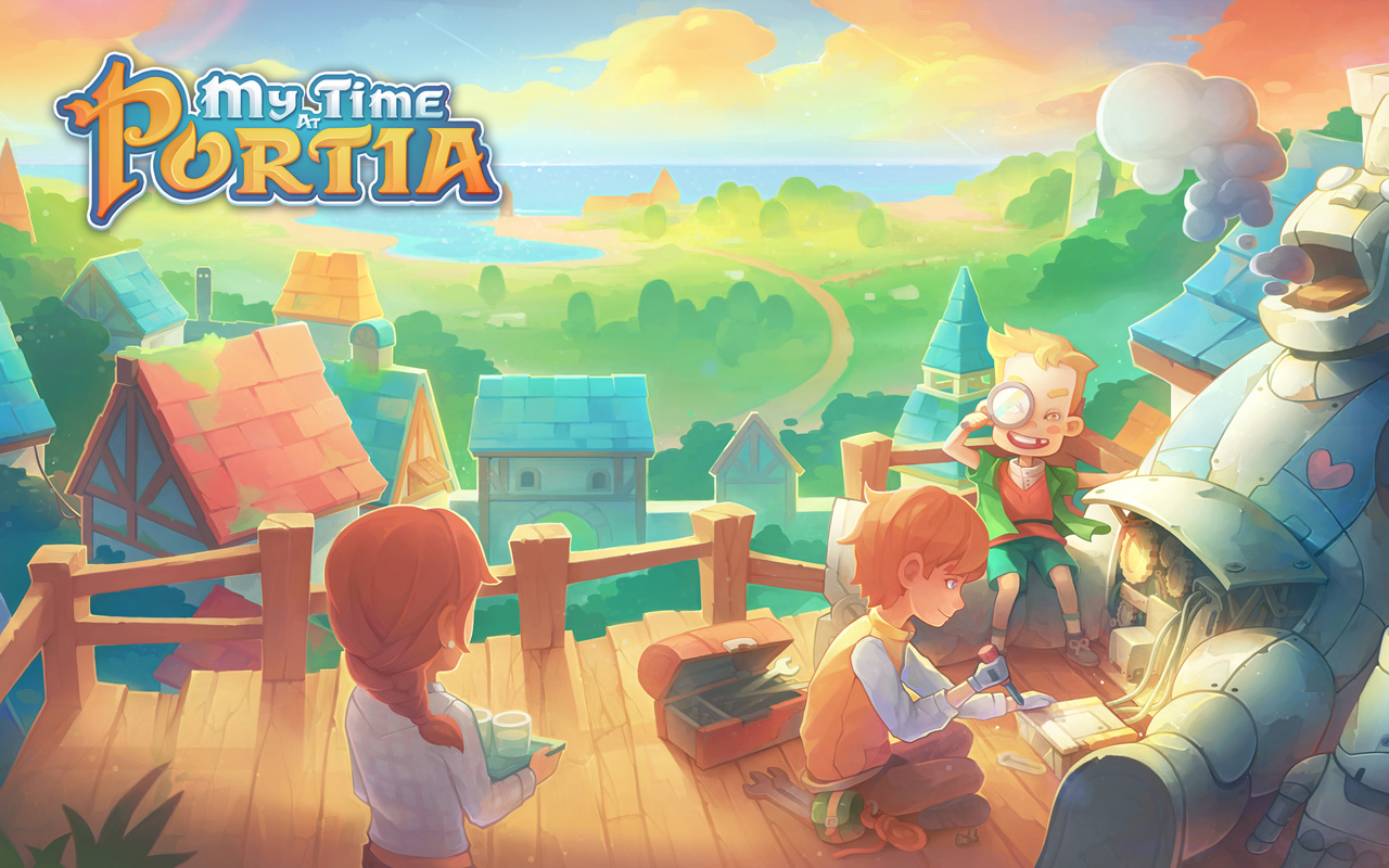 Free My Time at Portia Wallpaper in 1280x800