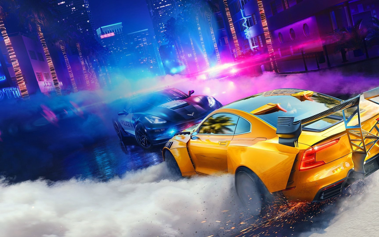 Need for Speed Heat Wallpaper in 1280x800