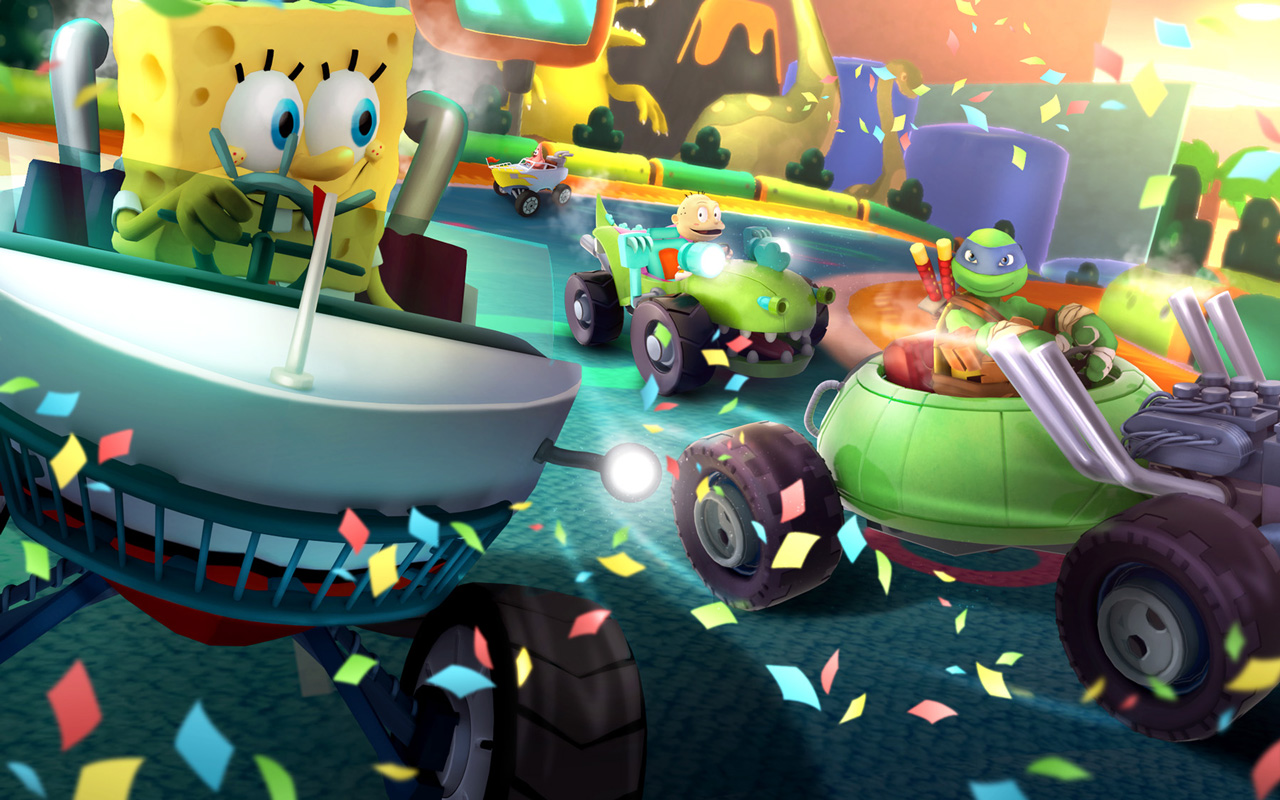 Free Nickelodeon Kart Racers Wallpaper in 1280x800