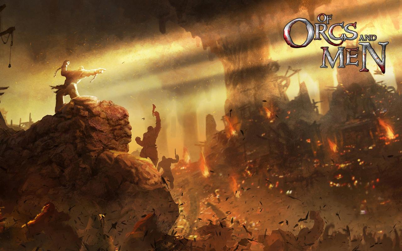 Free Of Orcs and Men Wallpaper in 1280x800