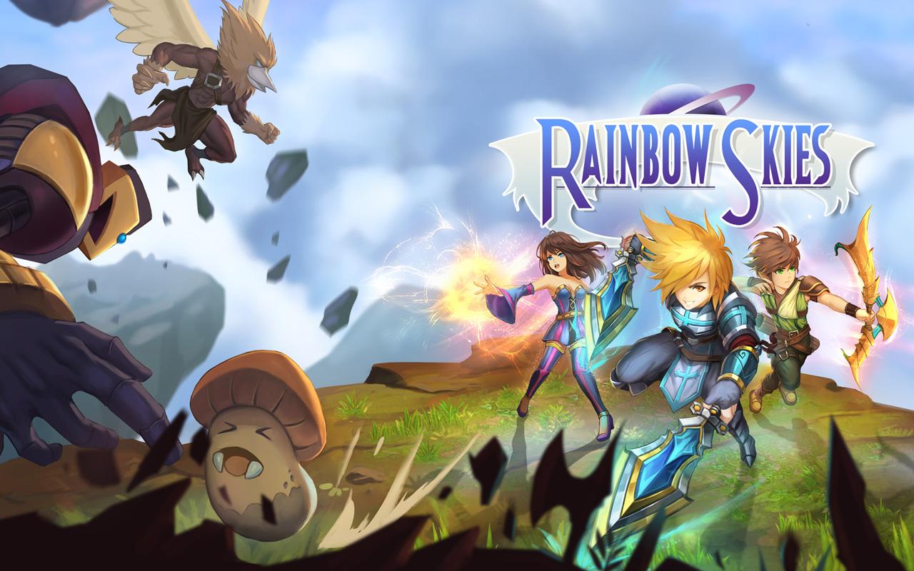 Free Rainbow Skies Wallpaper in 1280x800