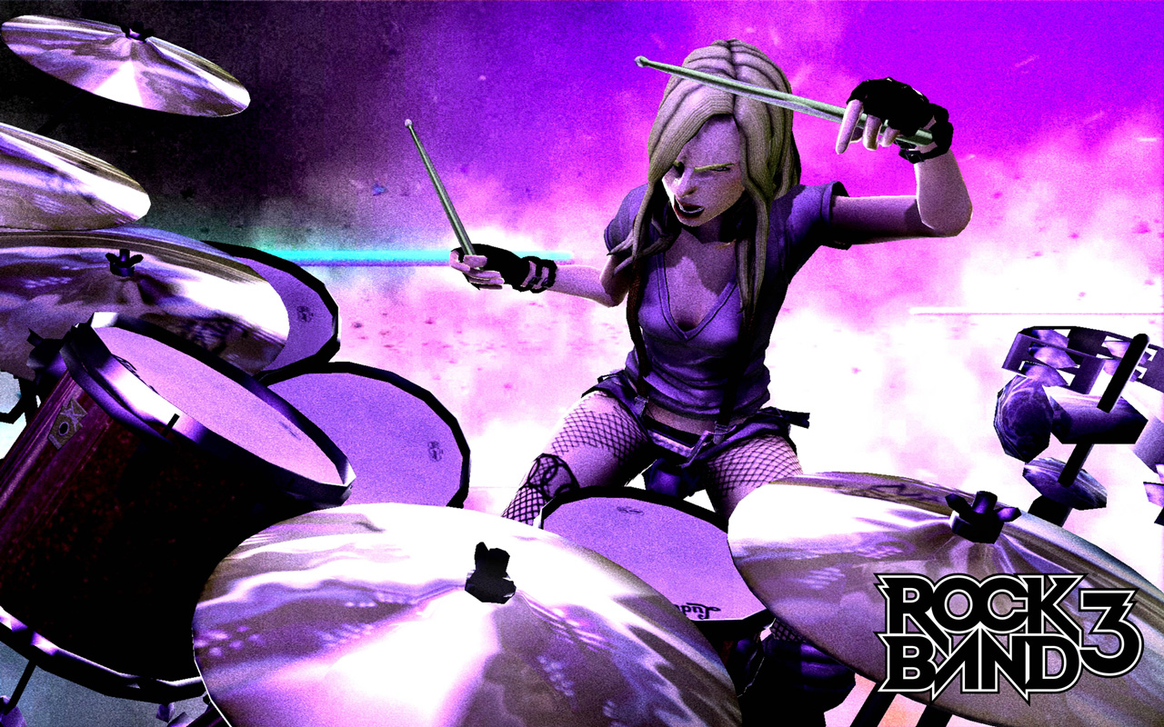 Free Rock Band 3 Wallpaper in 1280x800