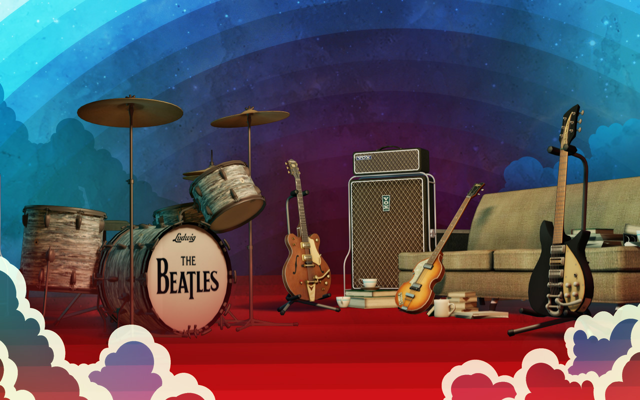 Free The Beatles: Rock Band Wallpaper in 1280x800
