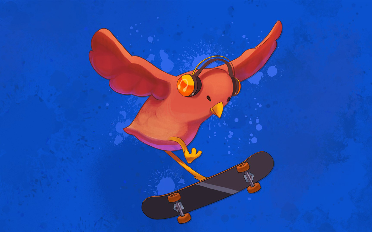 Free Skatebird Wallpaper in 1280x800