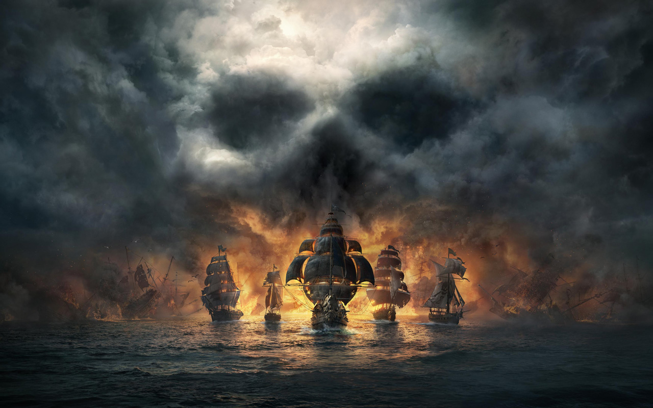 Free Skull & Bones Wallpaper in 1280x800