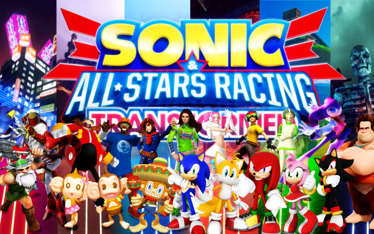 Free Sonic & All-Stars Racing Transformed Wallpaper in 1280x800