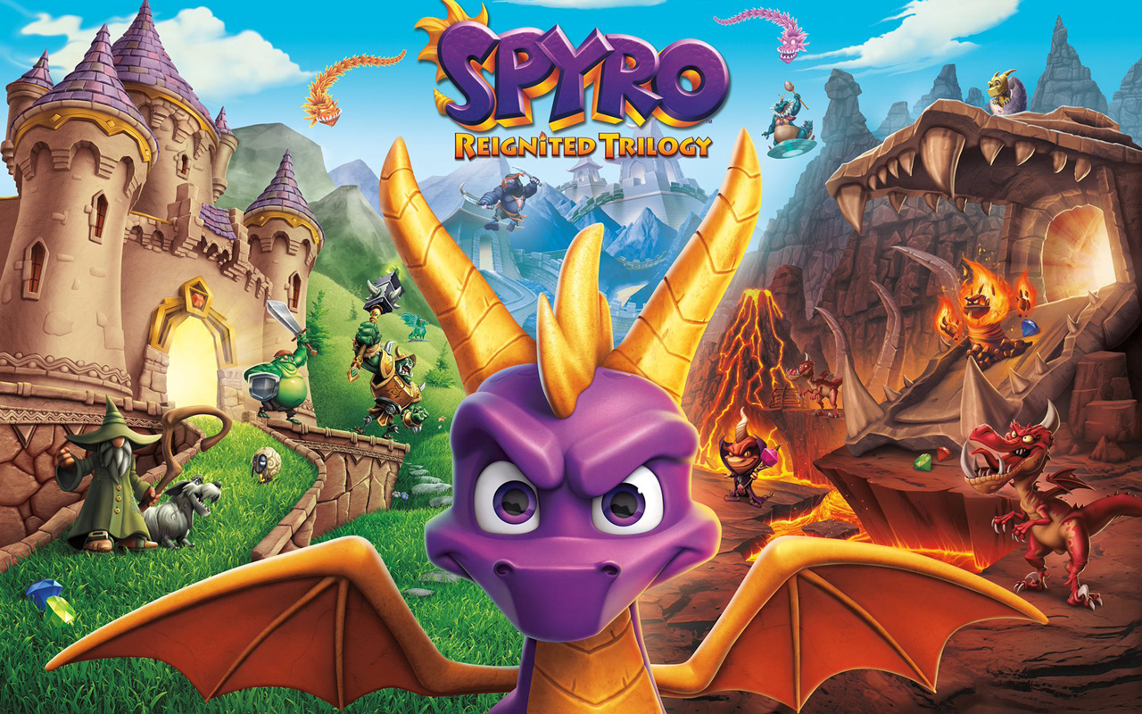 Free Spyro the Dragon Wallpaper in 1280x800