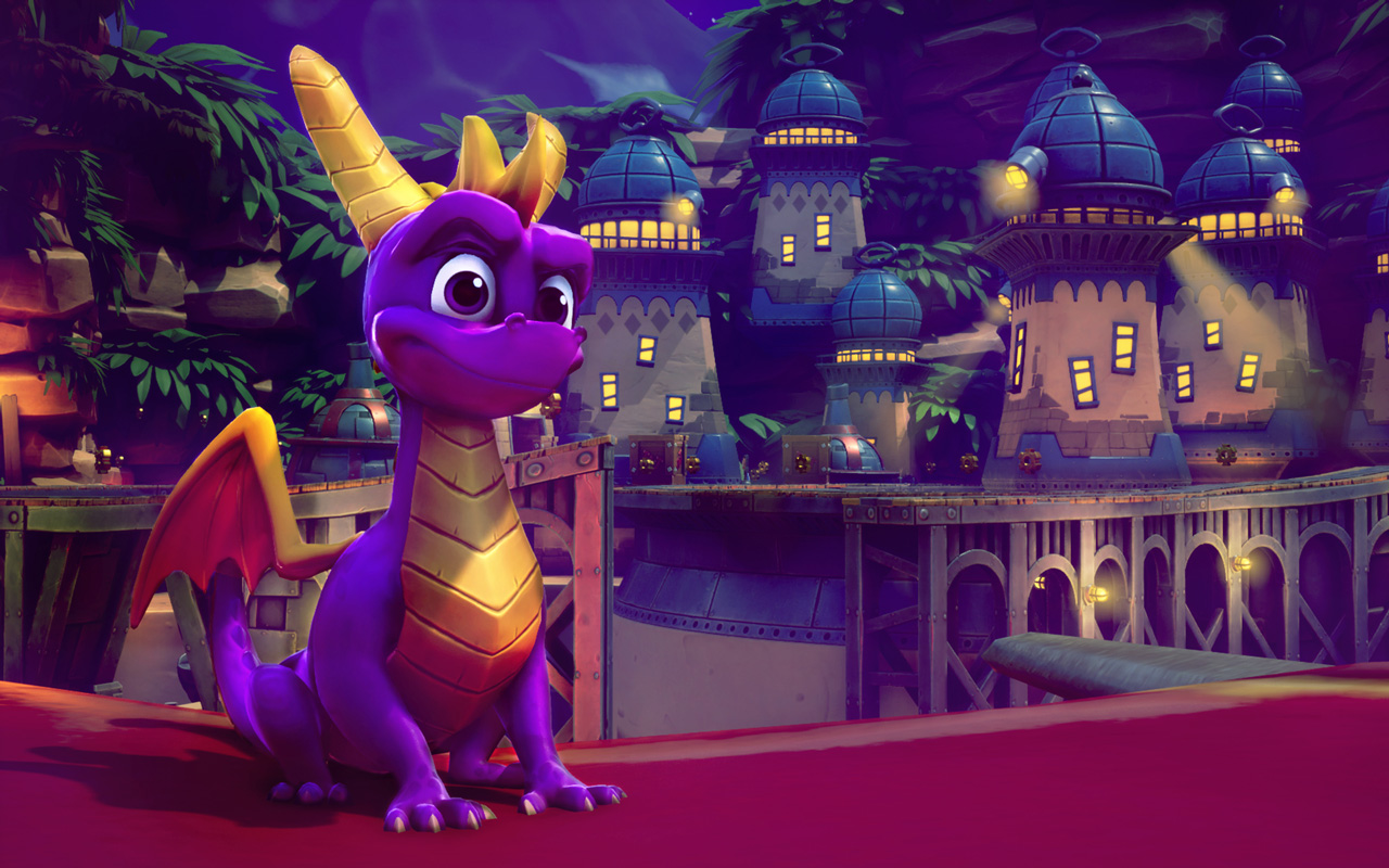 Spyro the Dragon Wallpaper in 1280x800