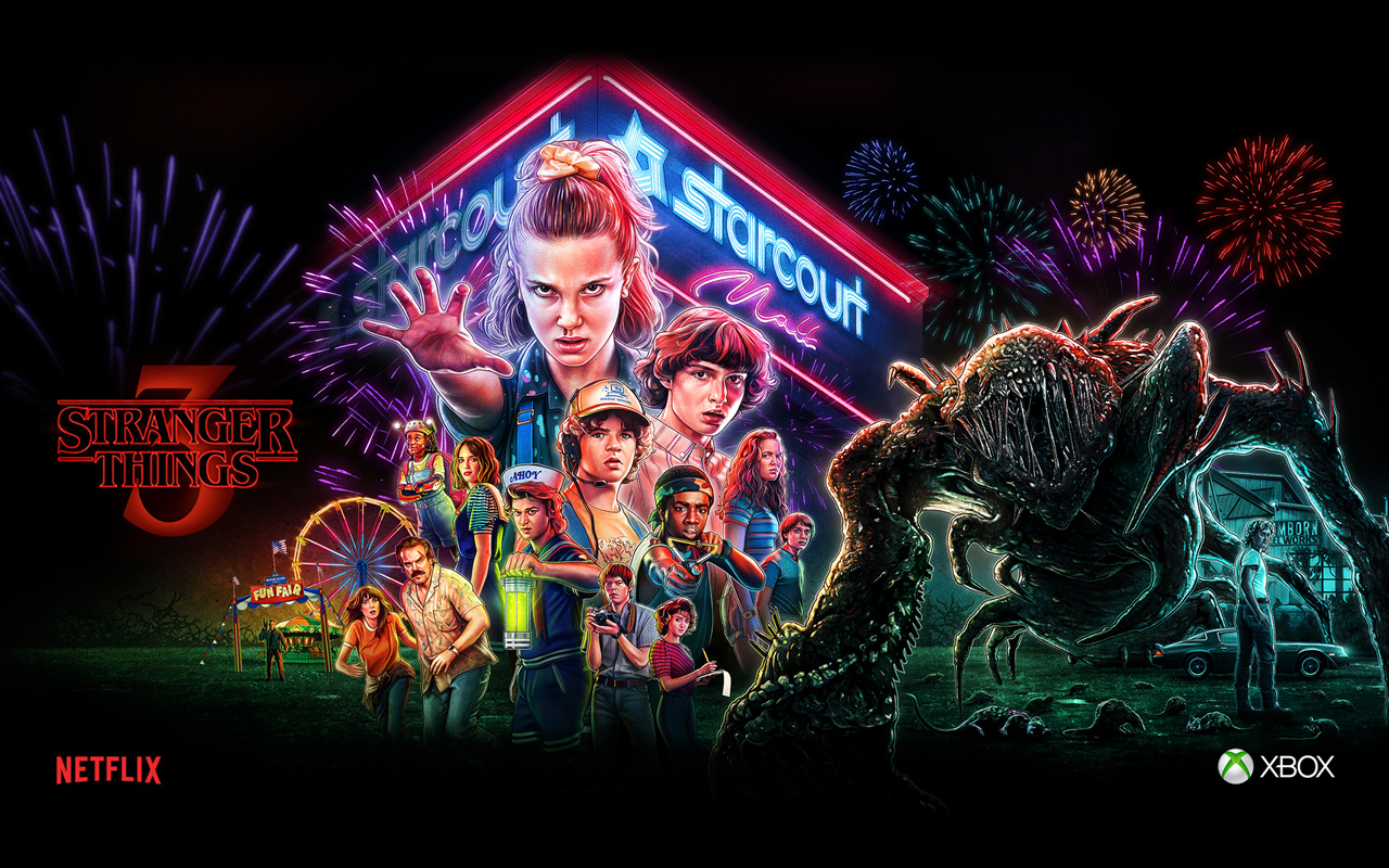 Free Stranger Things 3: The Game Wallpaper in 1280x800