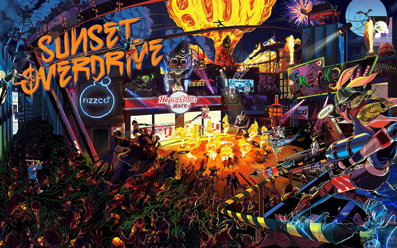 Free Sunset Overdrive Wallpaper in 1280x800