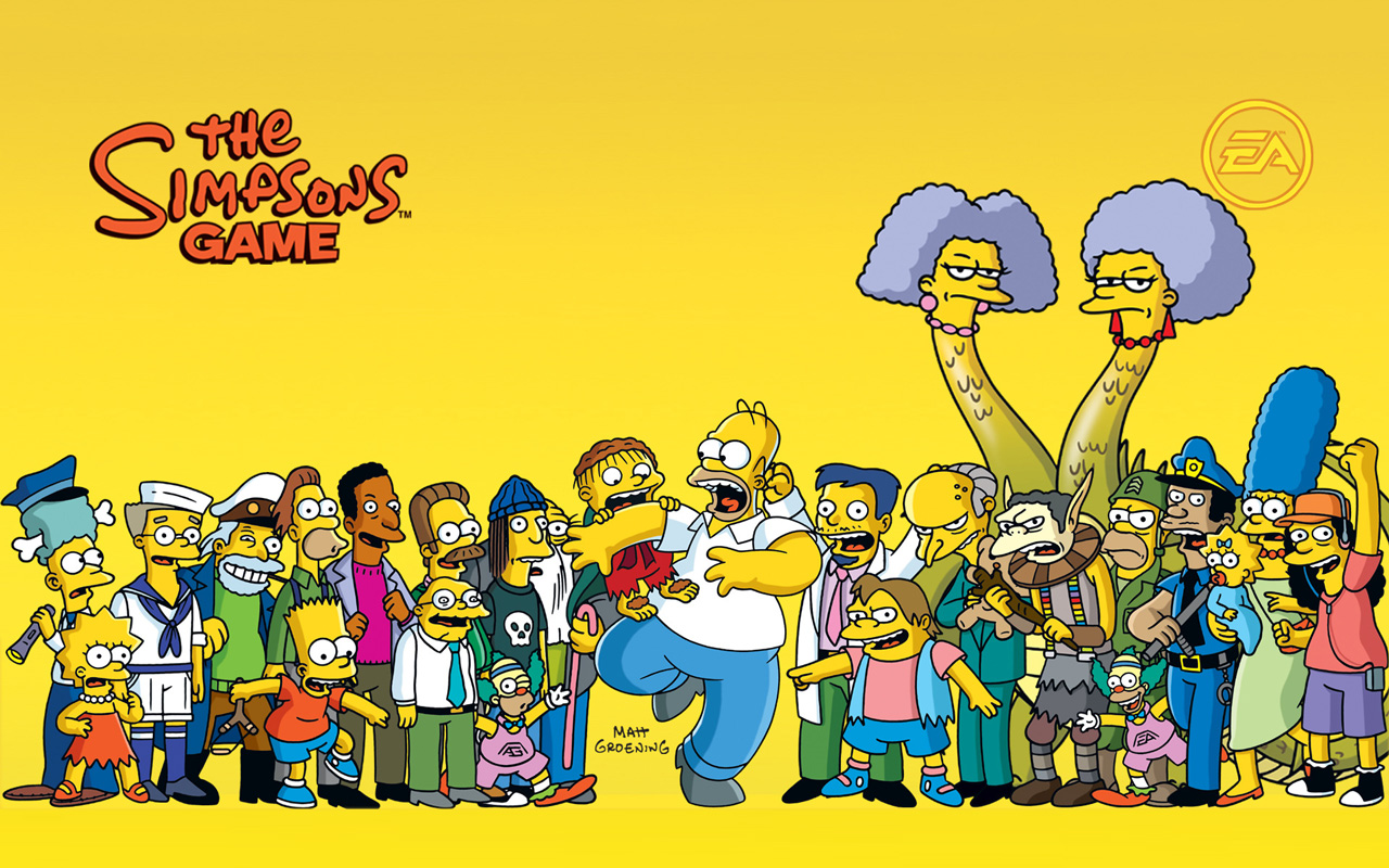 Free The Simpsons Game Wallpaper in 1280x800
