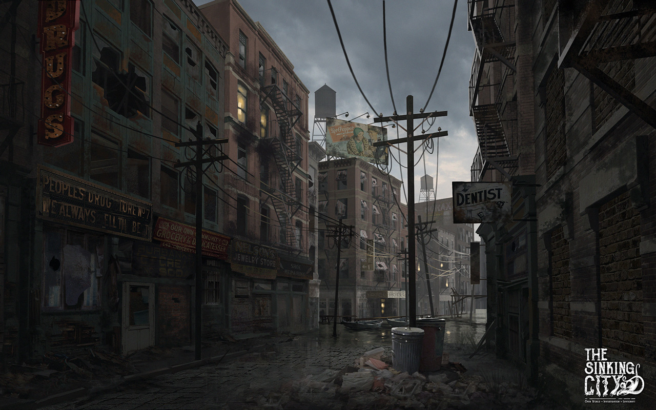 Free The Sinking City Wallpaper in 1280x800