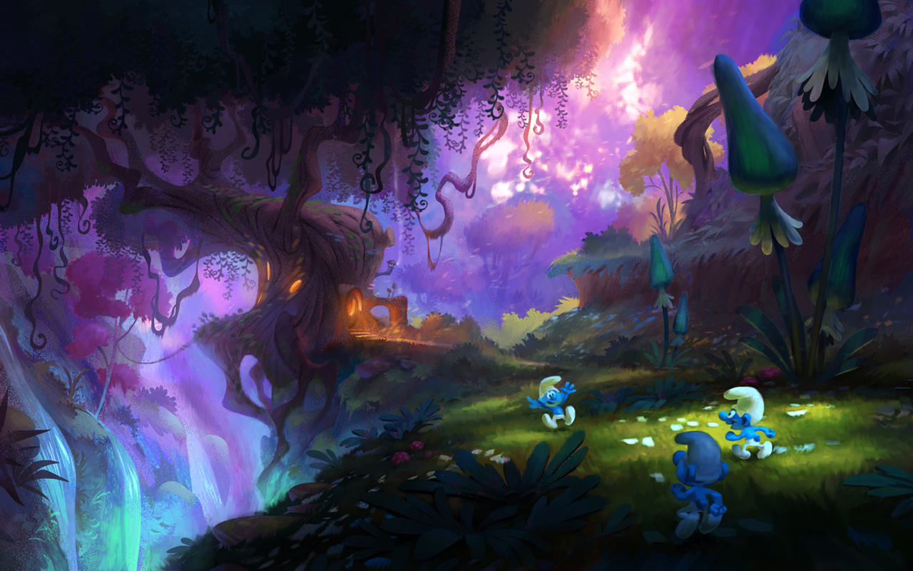 Free The Smurfs: Mission Vileaf Wallpaper in 1280x800
