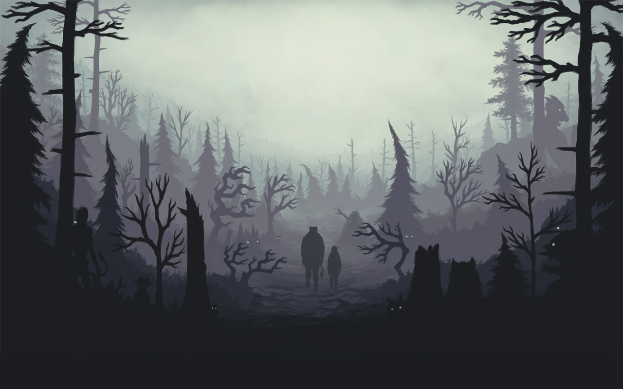 Free Through the Woods Wallpaper in 1280x800
