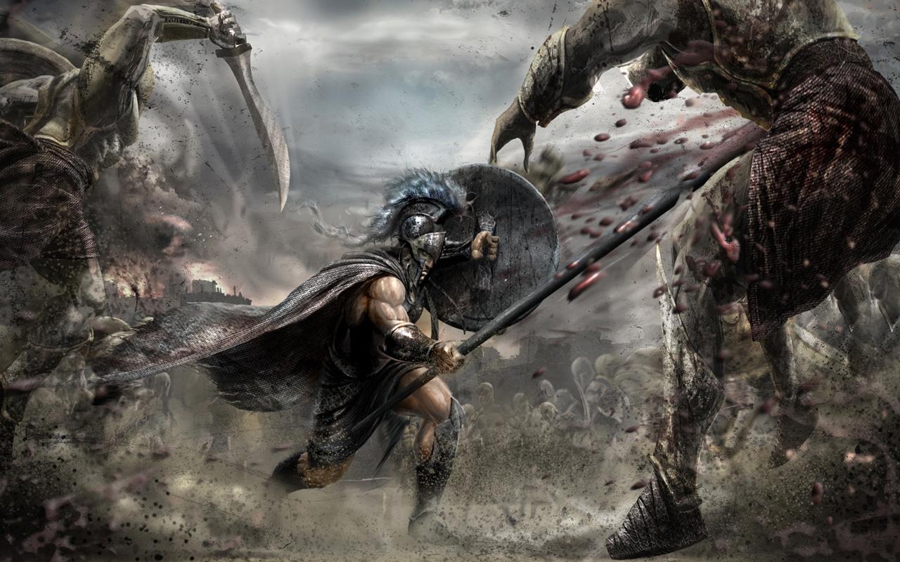 Free Warriors: Legends of Troy Wallpaper in 1280x800