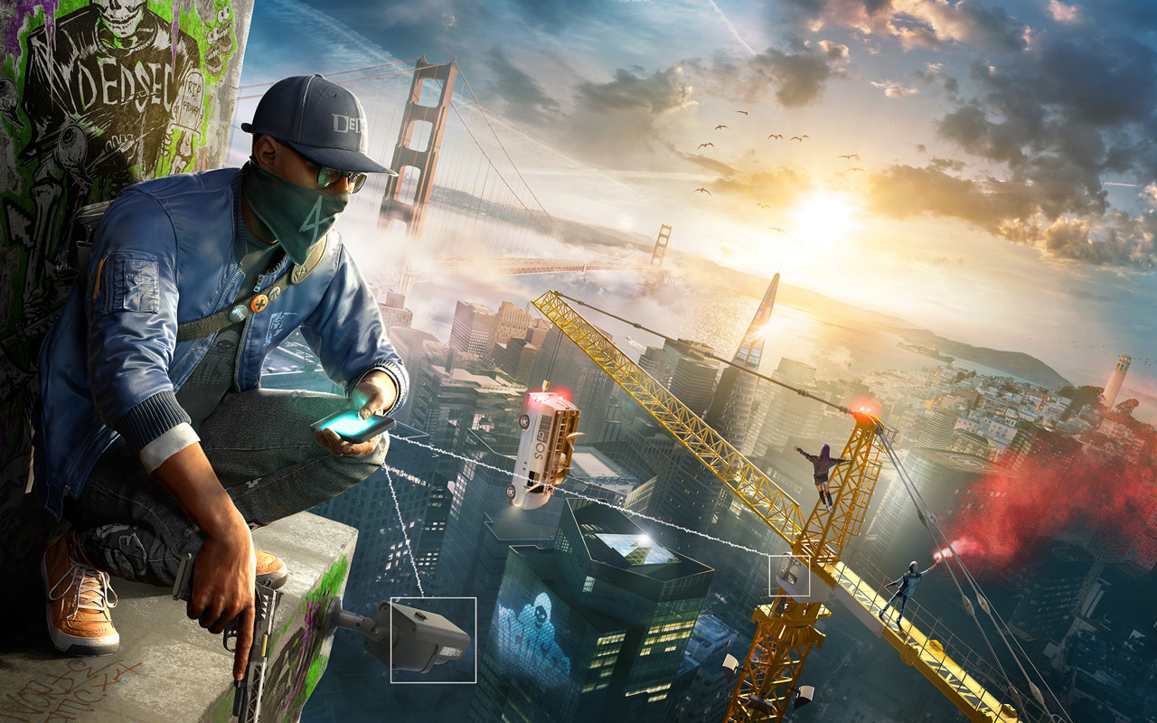 Free Watch Dogs 2 Wallpaper in 1280x800