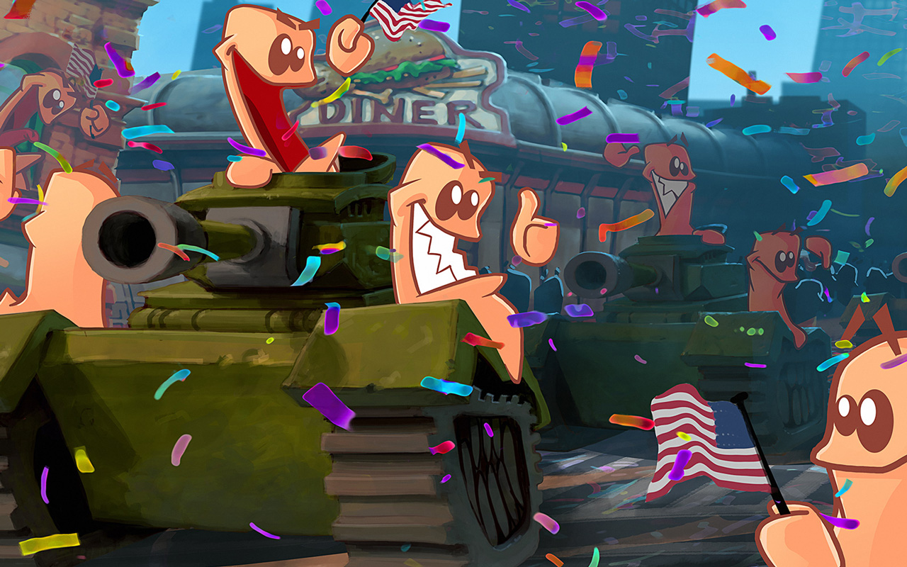 Free Worms W.M.D Wallpaper in 1280x800