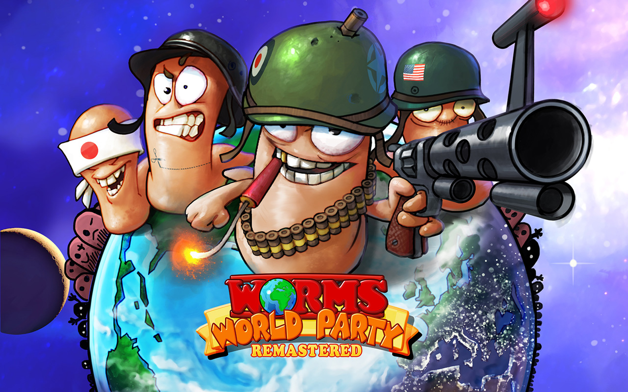 Free Worms World Party Remastered Wallpaper in 1280x800