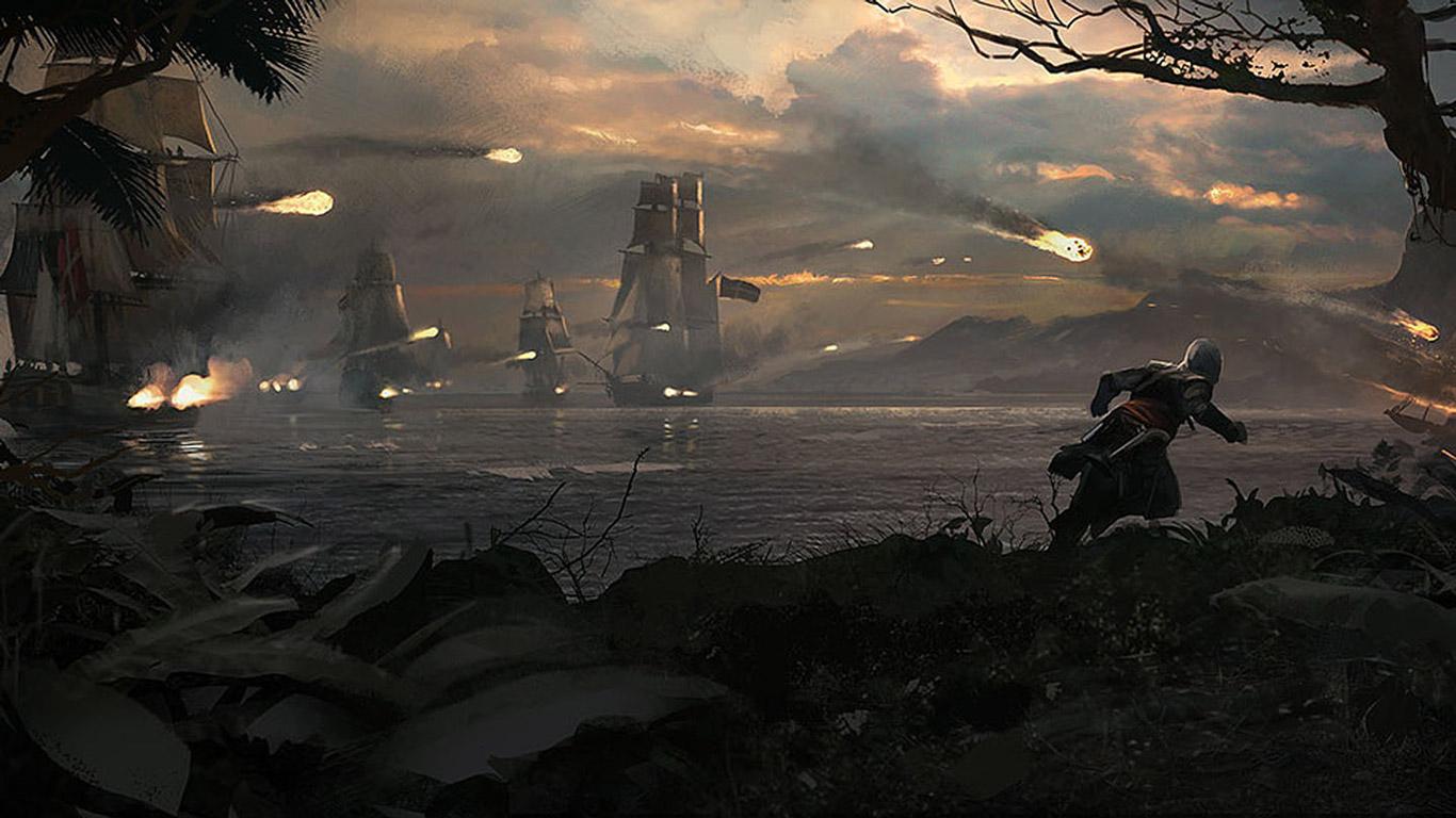 Assassin's Creed IV: Black Flag Wallpaper in 1366x768