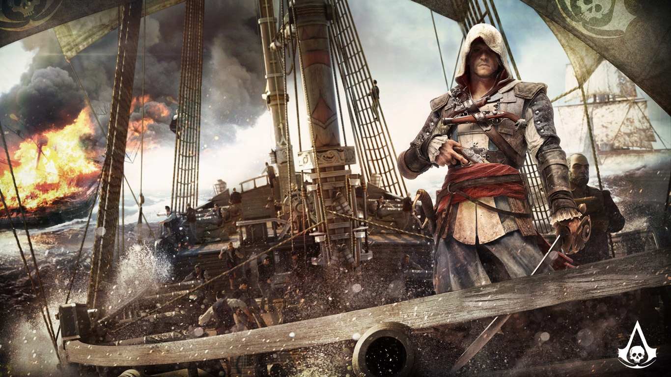Free Assassin's Creed IV: Black Flag Wallpaper in 1366x768