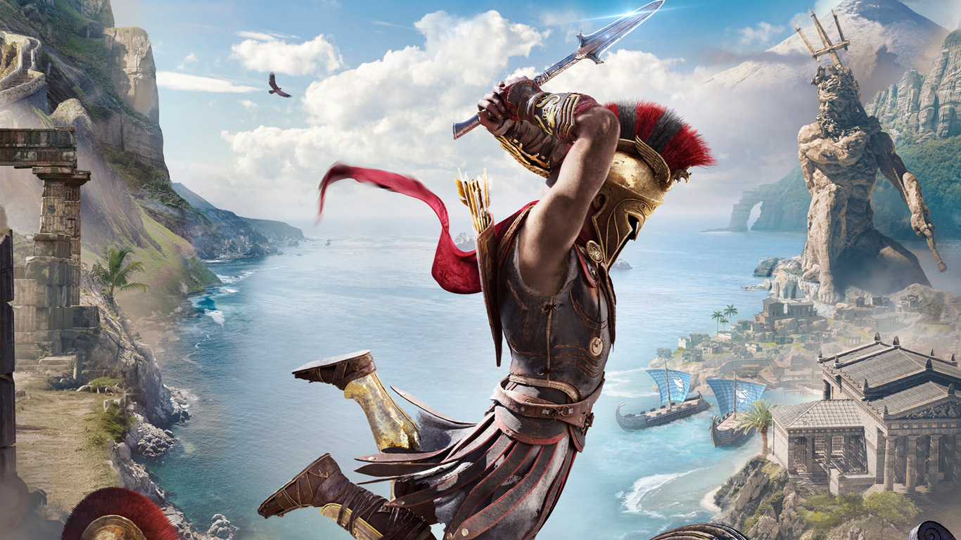 Free Assassin's Creed Odyssey Wallpaper in 1366x768