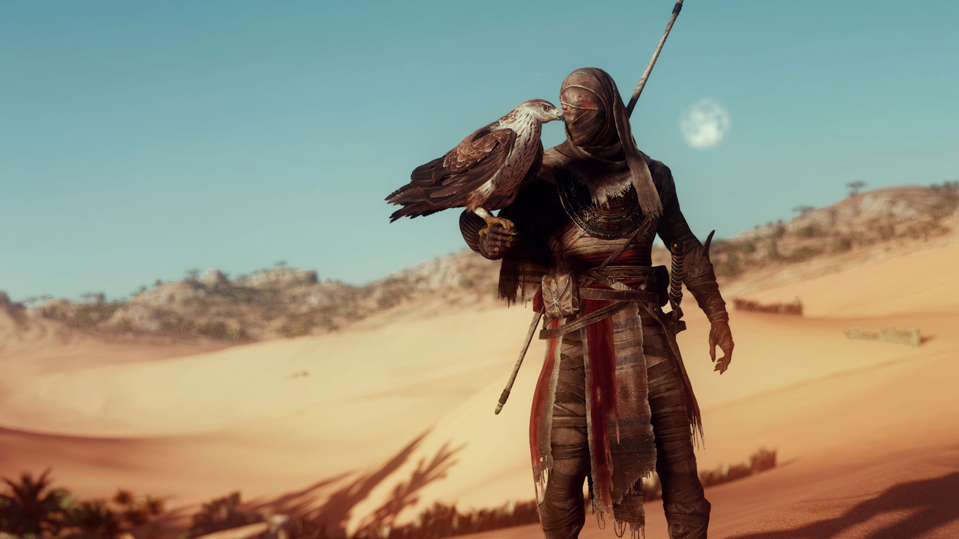 Free Assassin's Creed Origins Wallpaper in 1366x768