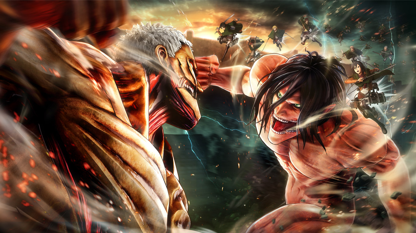 Free Attack on Titan 2 Wallpaper in 1366x768