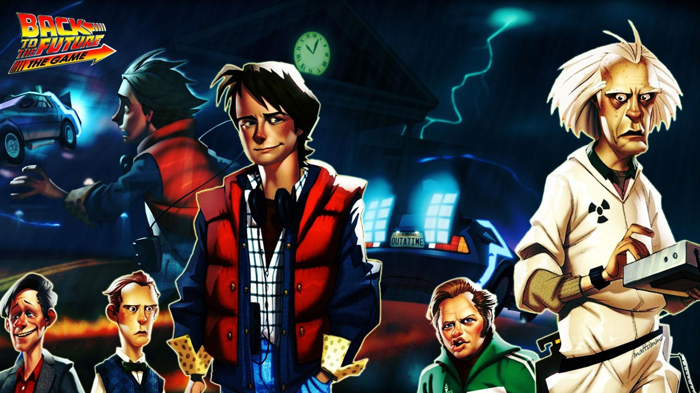 Free Back to the Future: The Game Wallpaper in 1366x768