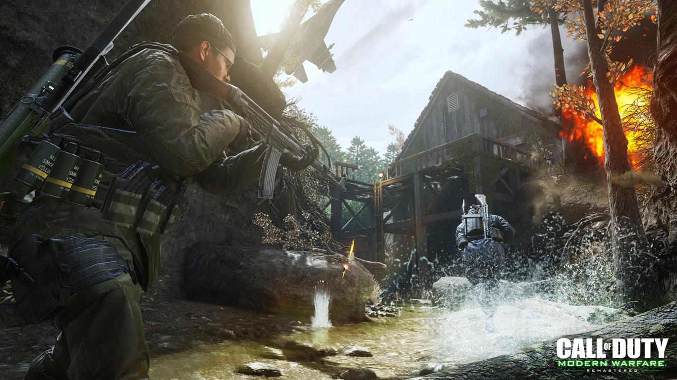 Free Call of Duty: Modern Warfare Wallpaper in 1366x768