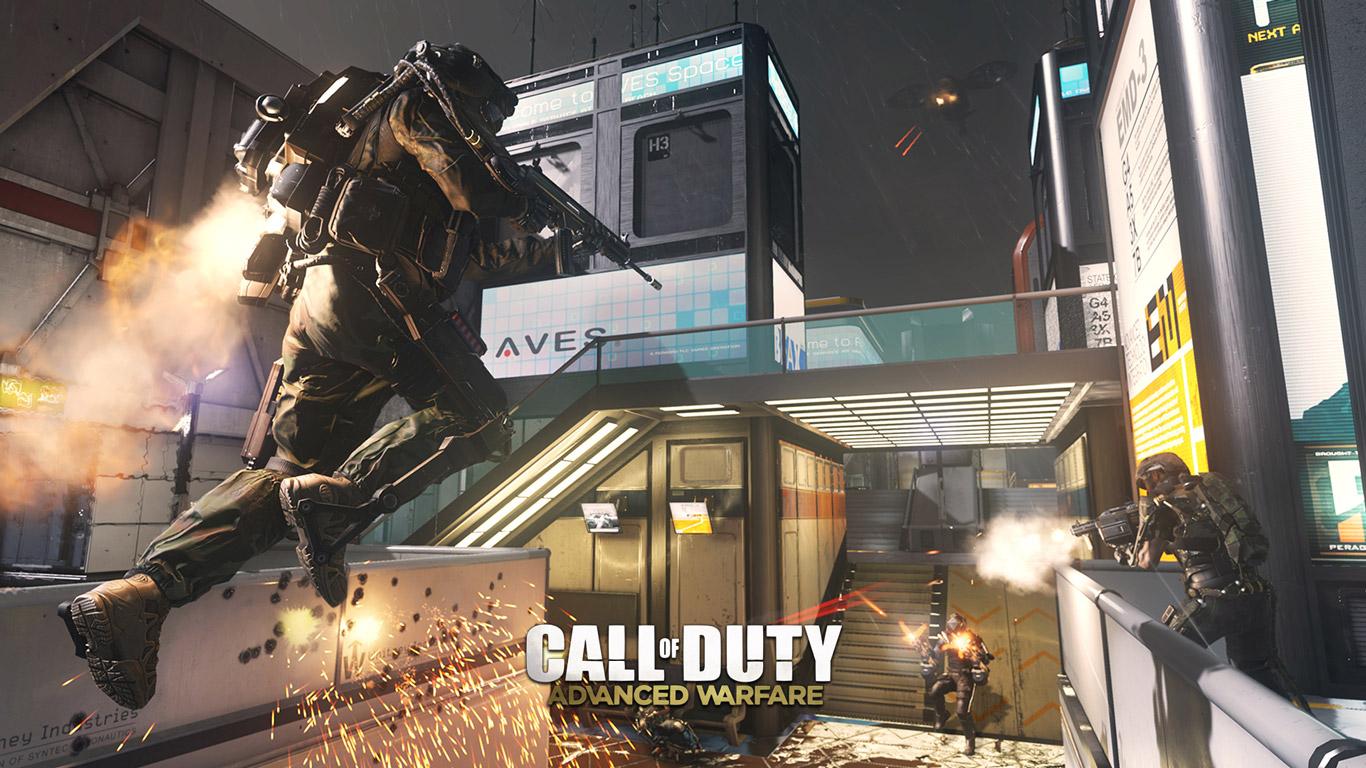 Free Call of Duty: Advanced Warfare Wallpaper in 1366x768