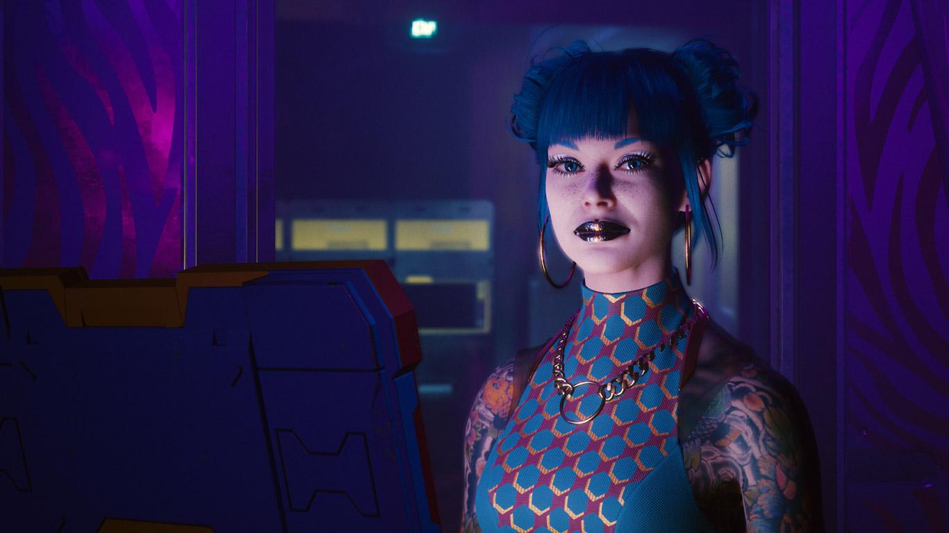 Free Cyberpunk 2077 Wallpaper in 1366x768