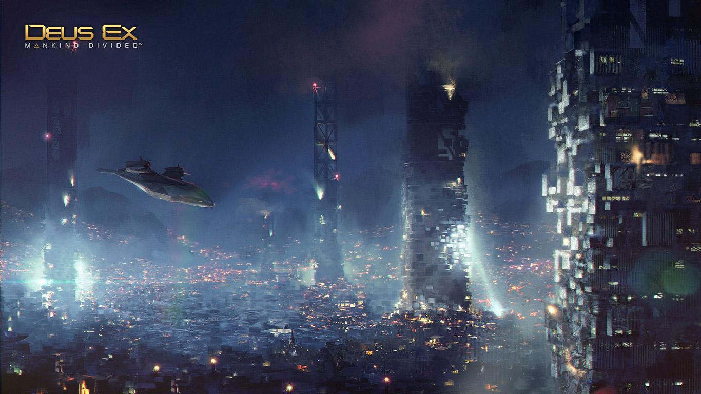 Free Deus Ex: Mankind Divided Wallpaper in 1366x768