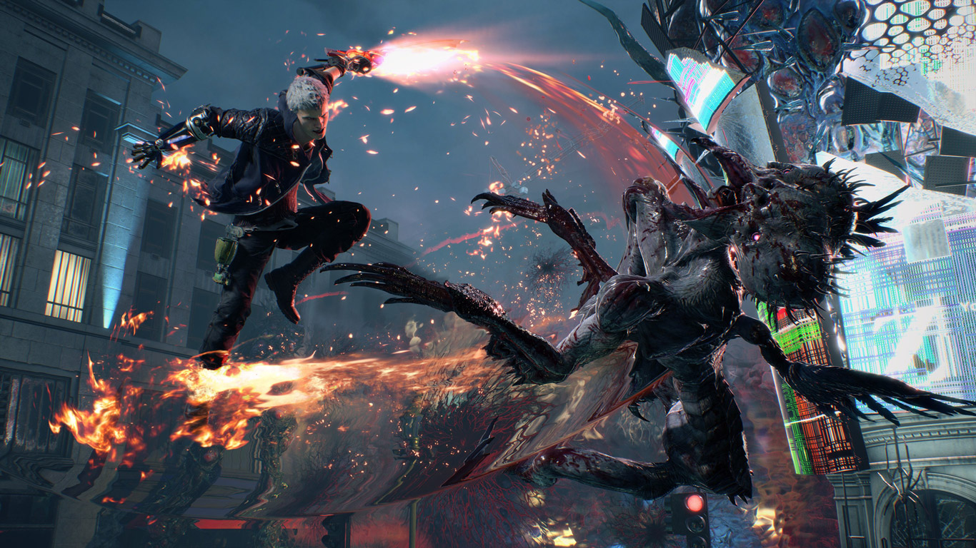 Free Devil May Cry 5 Wallpaper in 1366x768