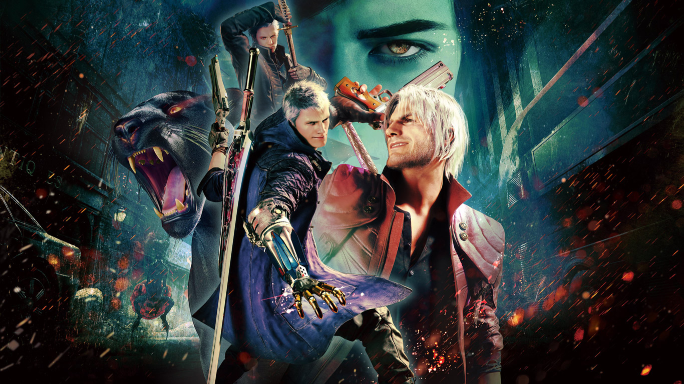 Devil May Cry 5 Wallpaper in 1366x768