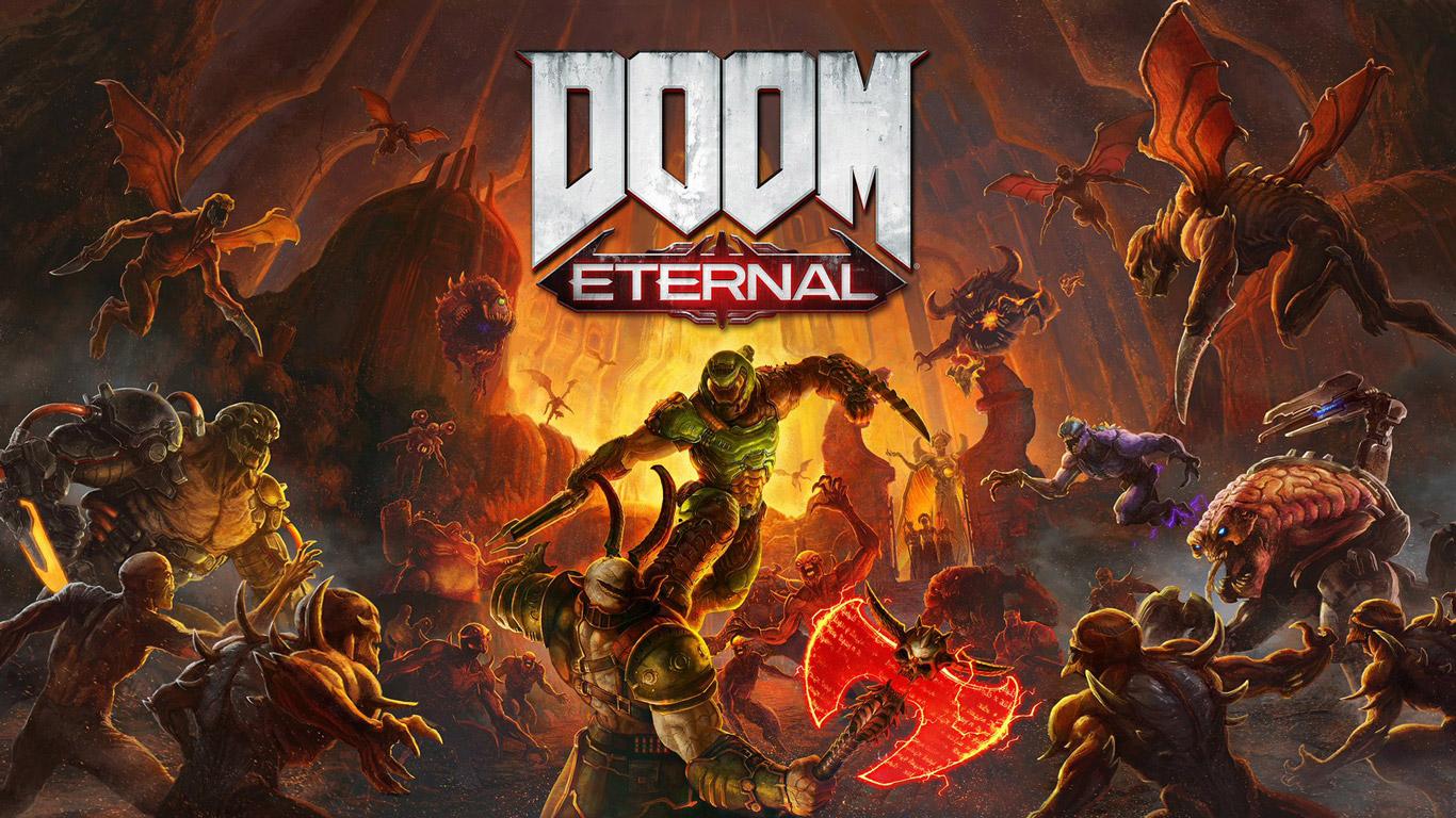 Free Doom Eternal Wallpaper in 1366x768