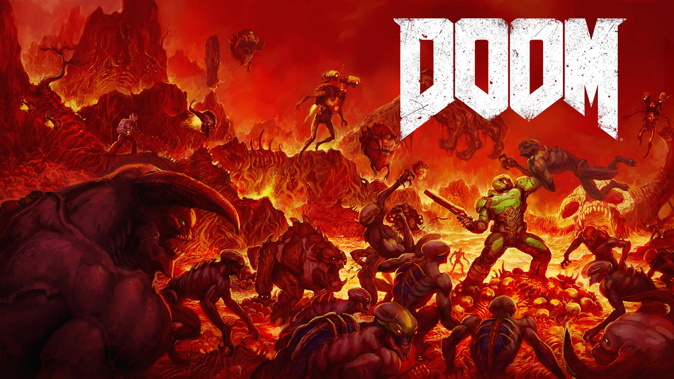 Free Doom (2016) Wallpaper in 1366x768