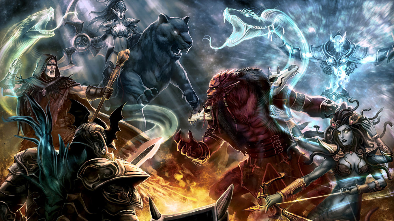 Free DotA: Defense of the Ancients Wallpaper in 1366x768