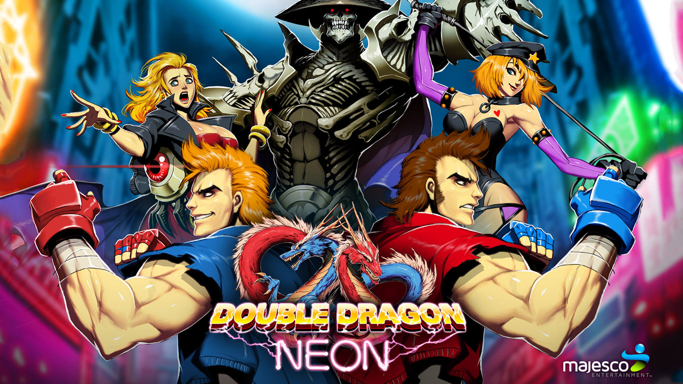 Double Dragon Neon Wallpaper in 1366x768