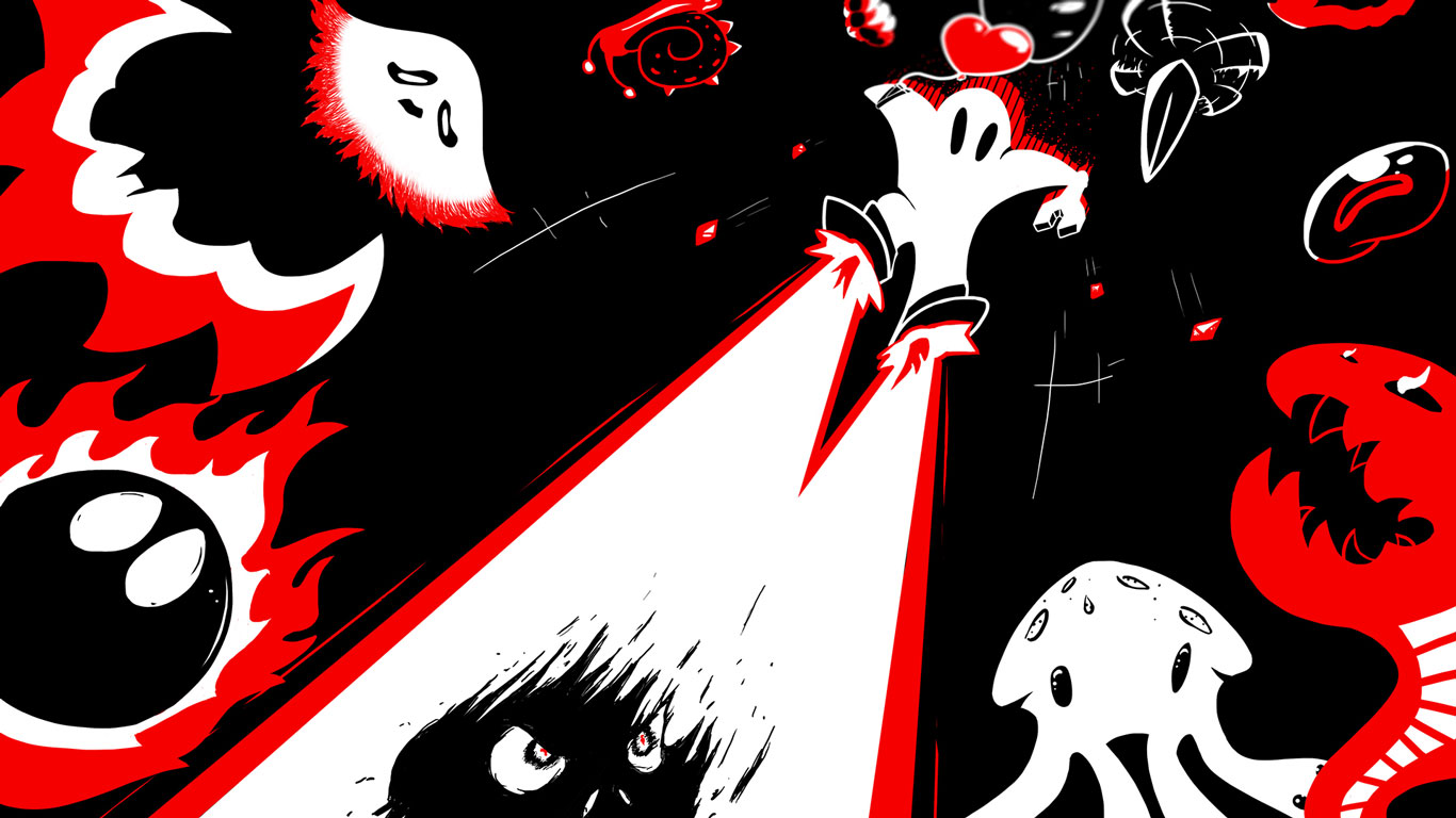 Free Downwell Wallpaper in 1366x768