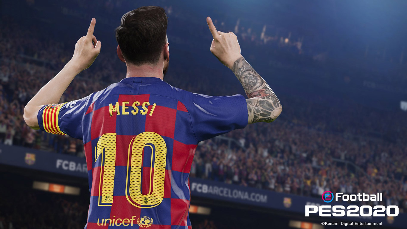 Free eFootball PES 2020 Wallpaper in 1366x768