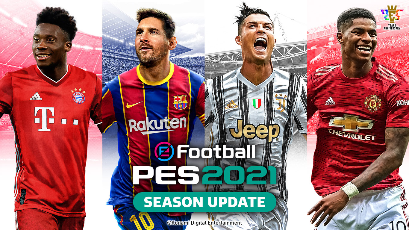 Free eFootball PES 2021 Wallpaper in 1366x768