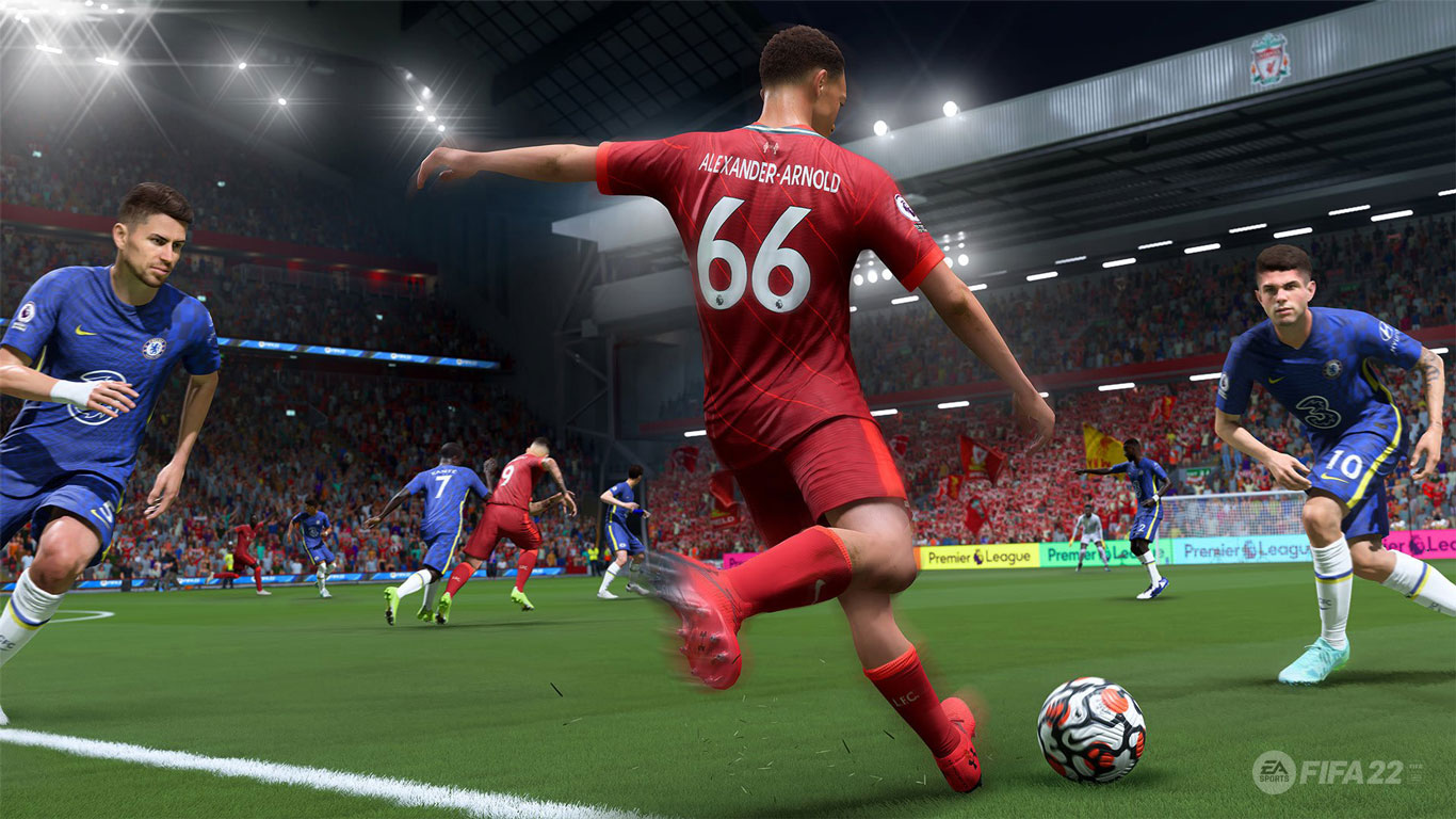 Free FIFA 22 Wallpaper in 1366x768