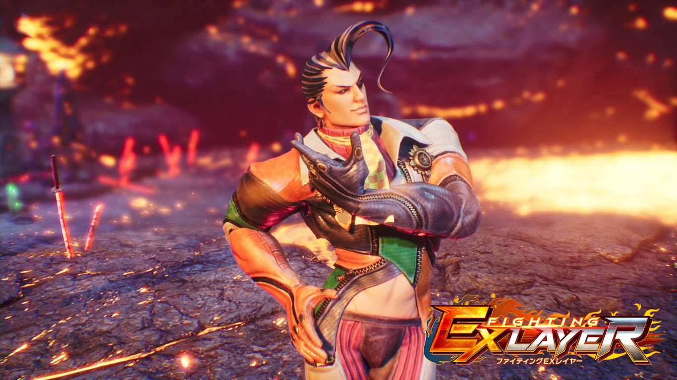 Free Fighting EX Layer Wallpaper in 1366x768