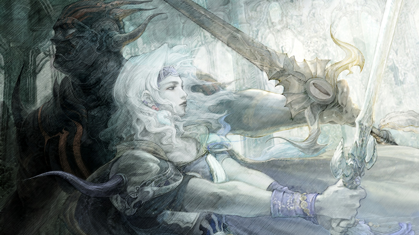 Free Final Fantasy IV Wallpaper in 1366x768