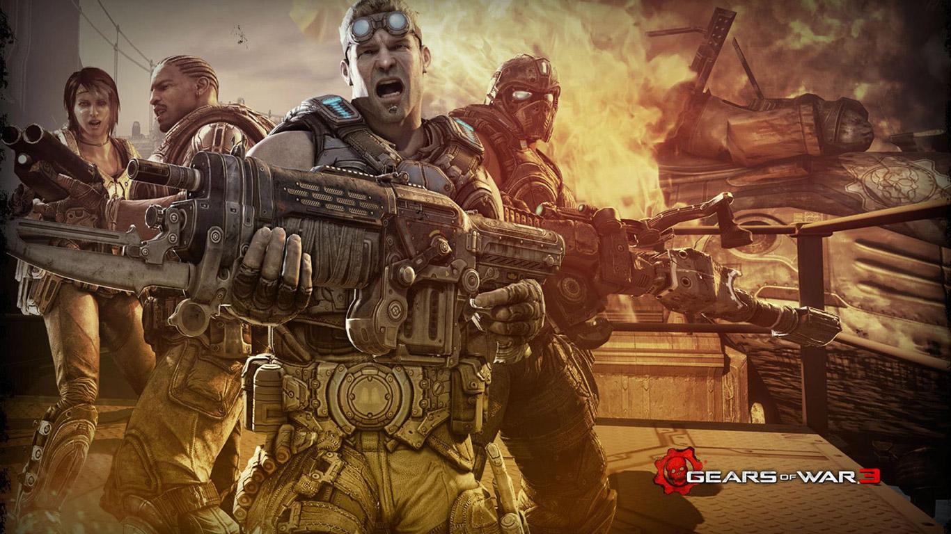 Gears of War 3 Wallpaper in 1366x768