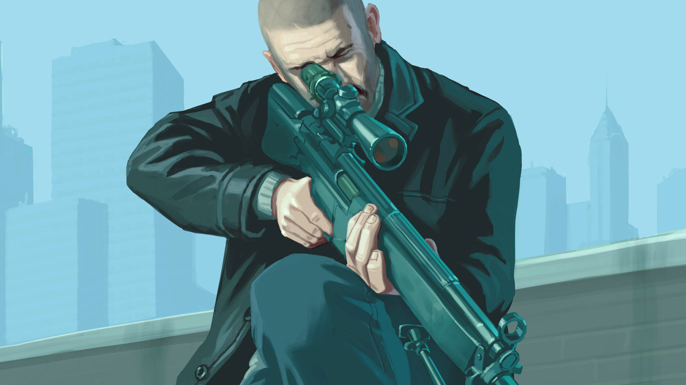 Free Grand Theft Auto IV Wallpaper in 1366x768