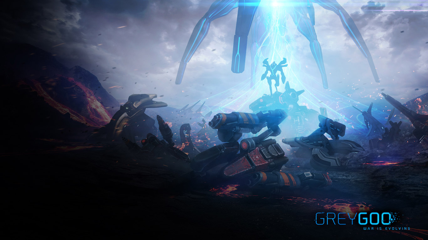 Free Grey Goo Wallpaper in 1366x768